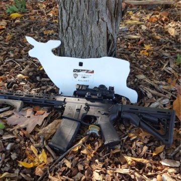 AR500 steel targets deer silhouette with rifle