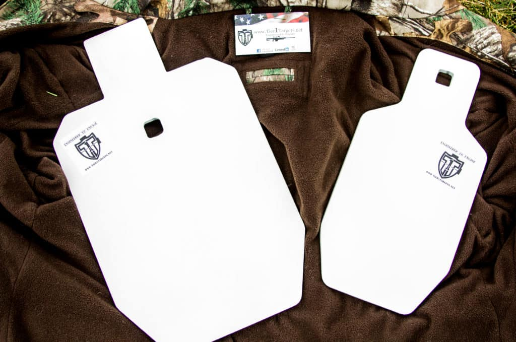 Steel IPSC target silhouettes from Tier 1 Targets